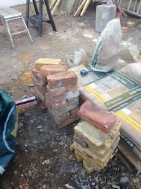 Mixed stock yellow & red bricks approx 36