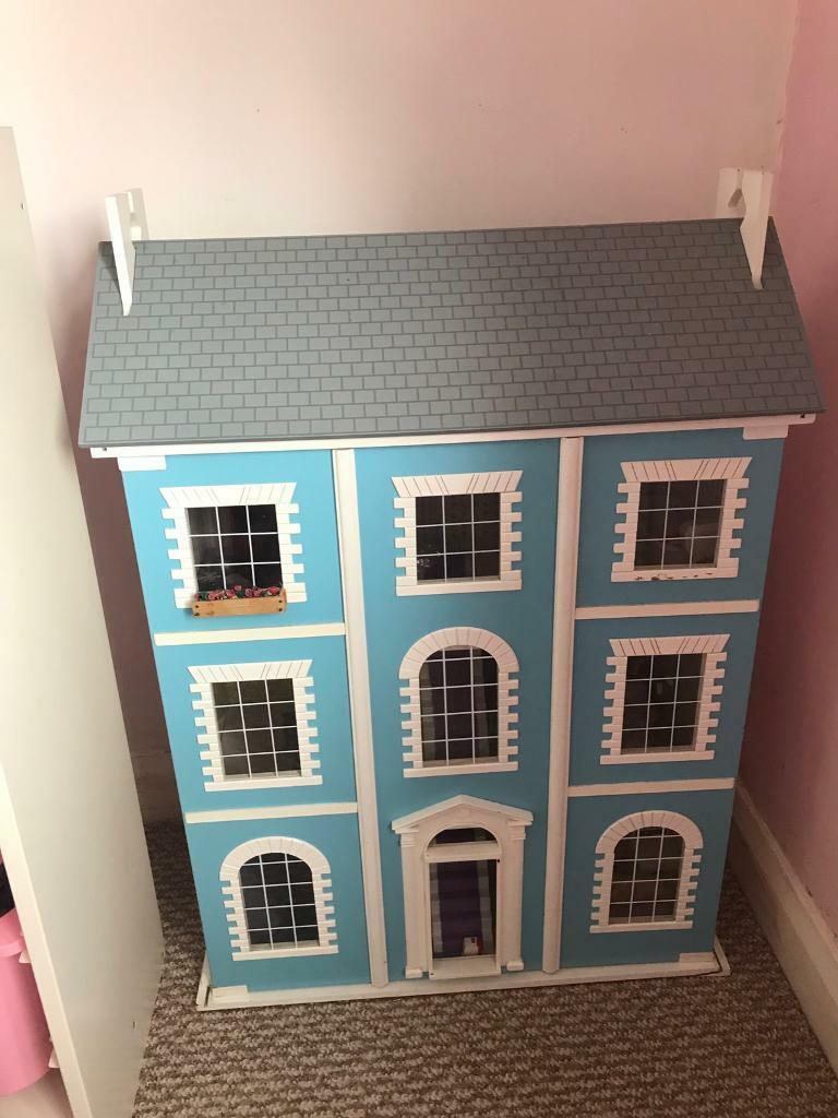 Large Traditional Dolls House From Emporium