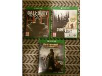3 x xbox one games Dead Rising 3 Call of Duty Black Ops 3 dying light