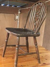 6 solid mahogany chairs