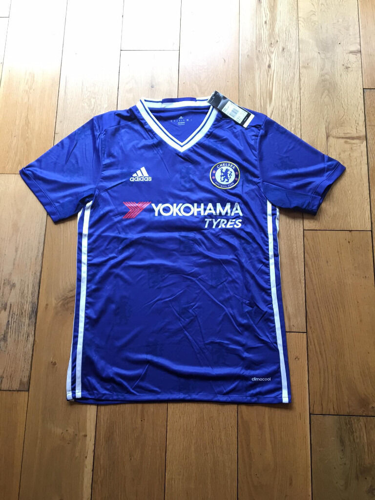 "BNWTMens Adidas Chelsea Home 2016/2017 PREMIERLEAGUE CHAMPIONS Football Shirt JerseyM L XLin Carlton, NottinghamshireGumtree - BRAND NEW WITH TAGS MENS CHELSEA HOME FOOTBALL SHIRT 2016/2017 PREMIERLEAGUE WINNING SEASON WITH THE EXCLUSIVE ""CHAMPIONS 2016 17 with the premierleague trophy"" AVAILABLE IN SIZES MEDIUM LARGE EXTRA LARGE Please note all shirts are brand new with..."