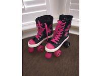 Zinc Retro Lace Up Quad Roller Skates Rollerskates Size 3 /36 EU Child Girls