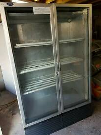 Commercial double doors chiller fully working with guaranty good condition