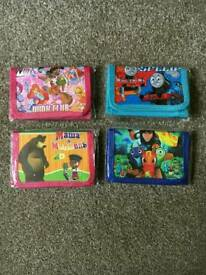 Children's wallets / purses child's boy's girl's
