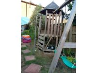TP climbing frame and swing set