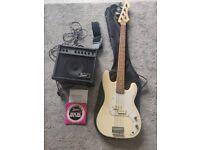 Bass guitar with 15W Amp and Accessories