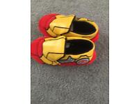 Boys iron man slippers size 11