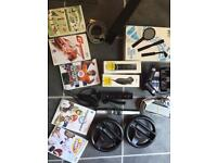 Black wii bundle with motion plus and games