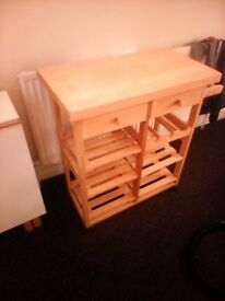 butchers block with storage £20.00