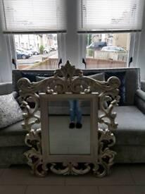 Next ornate gold mirror