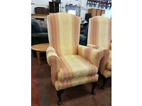 Highback fabric fireside Chairs x3 available £35 each