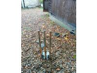 Cricket stumps for sale: heavy-duty, spring-return, Indoor / Outdoor, Full-size