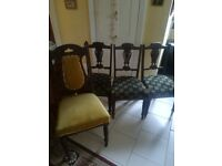£10 For ALL 4 ANTIQUE CHAIRS