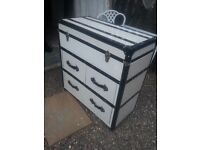 drawers...... ( large.. ) suitcase style.... top lifts with drawers underneath... £85...