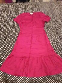Plum colour silk dress