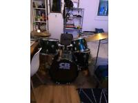 CB DRUMS 5 piece and 2 cymbals