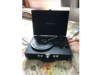 record player with selection of records