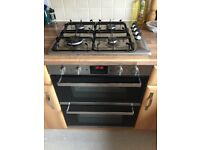 Built in cooker and gas hob - 18 months old great condidtion