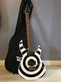 Cruze electric black & white guitar with case