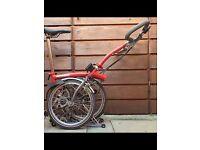 Brompton p3 folding bike
