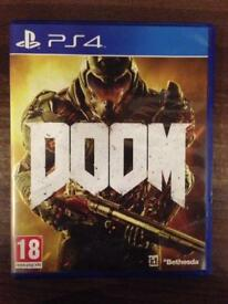 Doom PS4 used game. Great condition FREE SHIPPING, ACCEPT OFFERS