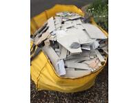 Tile offcuts and bathroom refitting waste in Mega Hippobag Free