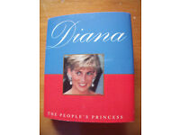 NEW Diana the people's princess hardback/dust cover book.Running Press. ISBN 0-7624-0338-1. 95 pages