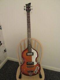 Bass Guitar. Beatle replica bass.