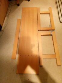 Next Table and 4 ikea chairs excellent condition.