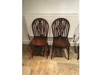 Wooden holding table & 2 chairs