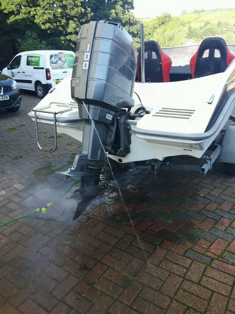 Mariner 100hp 4 cylinder 2 stroke outboard engine | in Alexandria, West  Dunbartonshire | Gumtree
