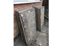 10 concrete slabs 3x2