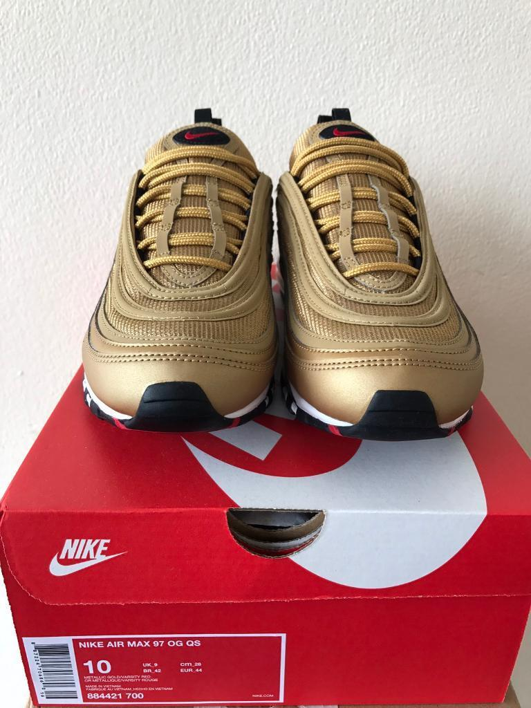 ... where to buy nike air max 97 og qs metallic gold 2017 uk size 9 265fc 4182ce2a3