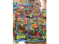 Ninja turtle curtains, bedding and lamp shade