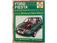 Haynes Ford Fiesta N to 02 Workshop Manual