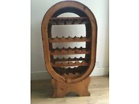 Rustic pine wine rack