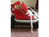 Red coverse high tops size 20 UK4 (like brand new)