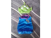 Alien from toy story fancy dress. 0-3 months