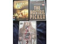 Three gory horror dvds