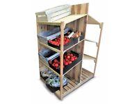 pallet furniture rack Handmade dual shop shelf for vegetables and baking - DIY Project