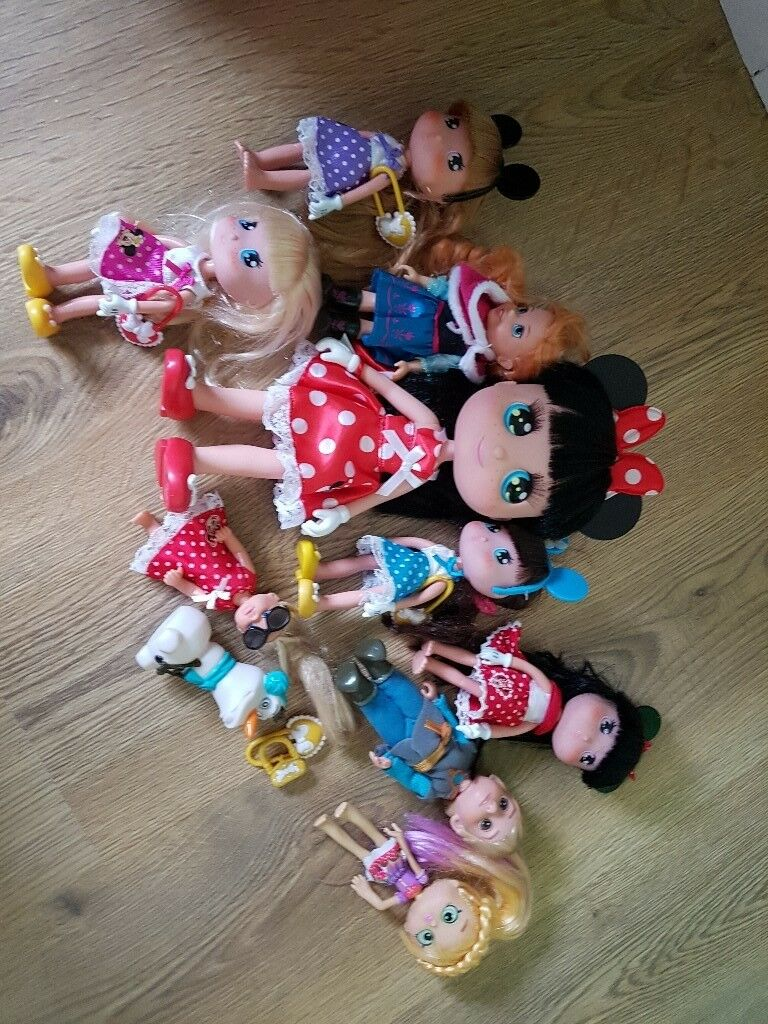 minnie mouse dolls set frozen dolls