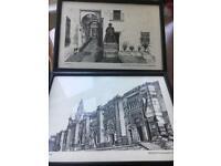 Artist Paintings in Frames Black and white