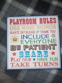 Play room sign