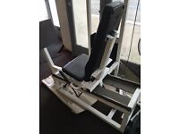 Life fitness seated leg press. Commercial use.
