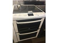 60CM WHITE ZANUSSI ELECTRIC COOKER WITH GUARANTEE