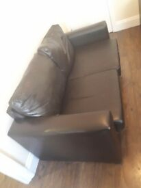 Sofa bed leather must go super cheap