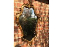 Antique-style French rococo design carved gilt mirror - Christmas treat