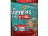 Pampers pants numb6