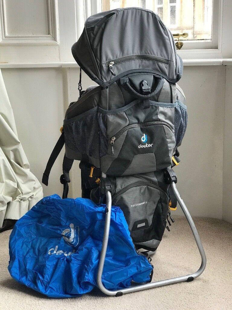 d7753141c5c Deuter Kid Comfort II - Child carrier ruck sack (with full length rain  cover)
