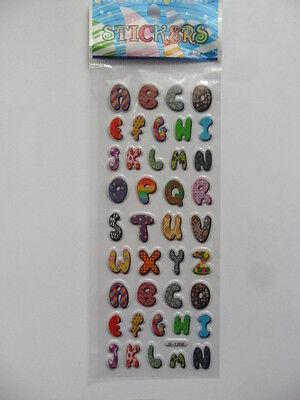 (3) Sticker Aufkleber Buchstaben 3D Softy ABC Scrapbooking Basteln Verzieren ()